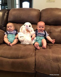 2019 04-20 Oliver and Wyatt's Easter