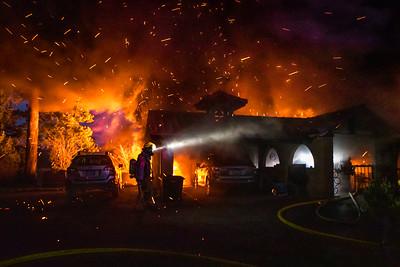 2 Alarm Structure Fire - NE Interlachen Ln, Fairview, OR - 03/18/21