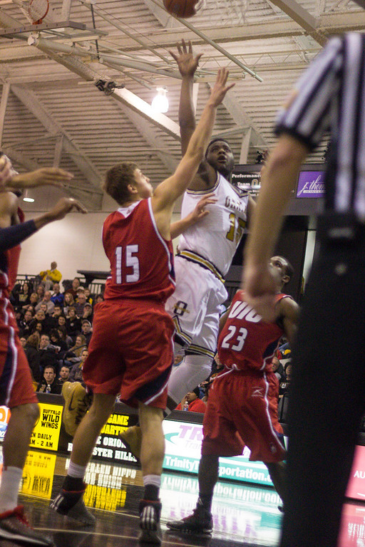 . Neely attempts a shot on the basket. Photos by Dylan Dulberg/The Oakland Press