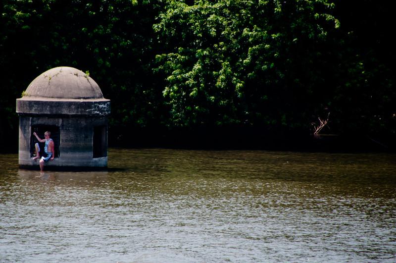 Peoria, IL water treatment post.