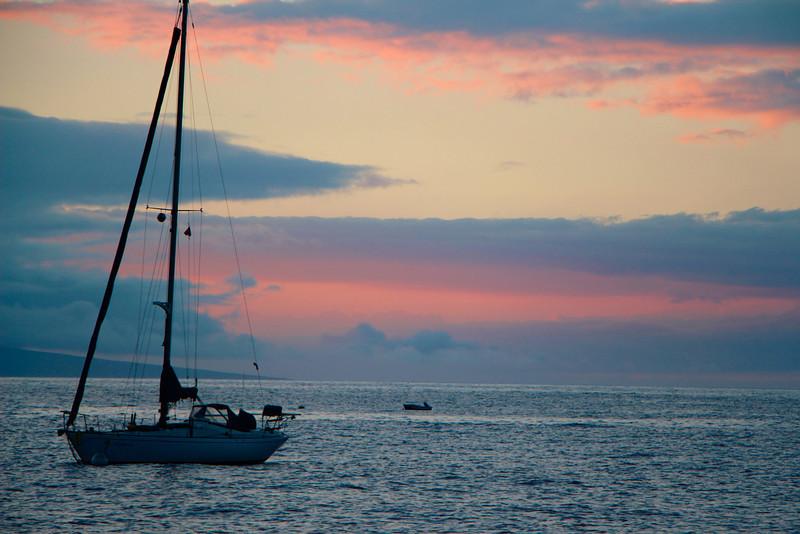 Sunset at Lahaina Harbor...