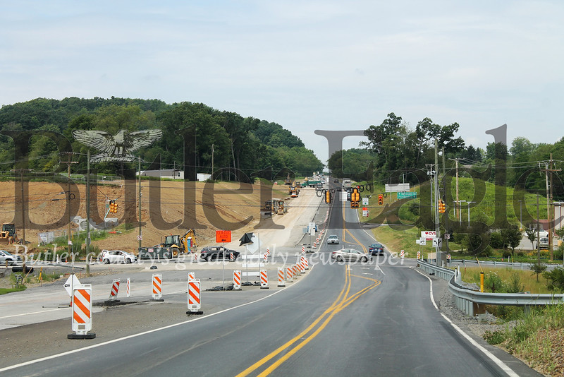 4 Column Photo by Samantha Beal. Butler County commissioners secured a $20 million BUILD Grant last December that allowed work to be done on Gateway 228, which corrects several safety and capacity concerns on Route 228 and other roads.