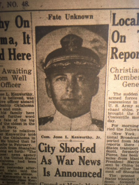 Daily Local Archive: 1941 Japan attacks Pearl Harbor