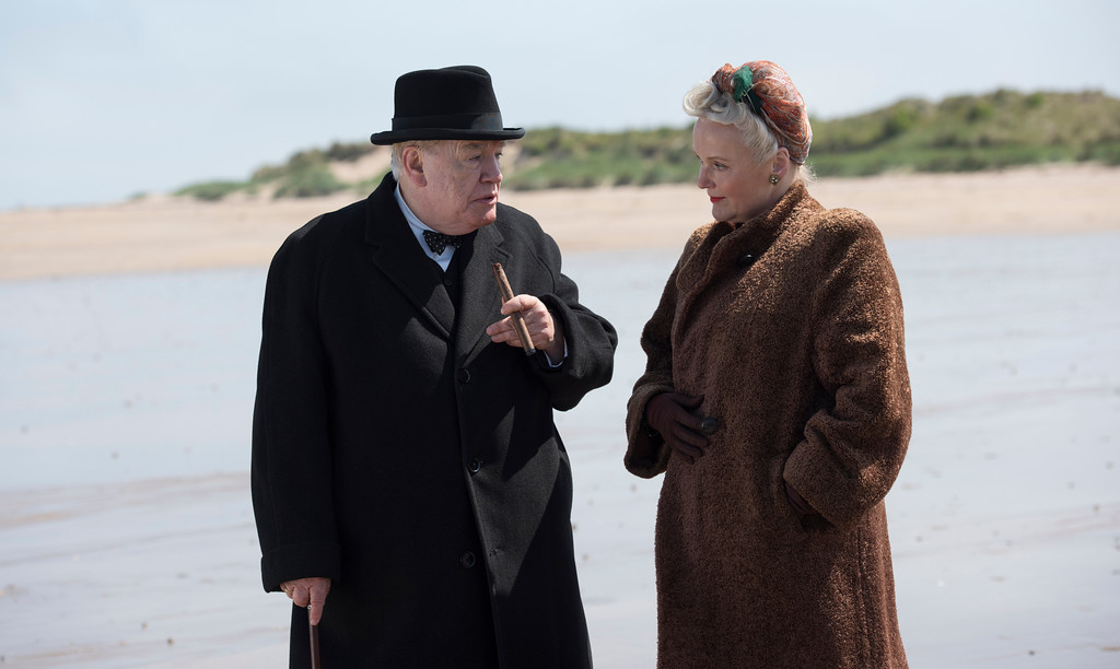 """. The dynamic of Winston Churchill, portrayed by Brian Cox, and his wife, Clementine, played by Miranda Richardson, is a key component ot the drama of \""""Churchill.\"""" �Churchill� � which opens June 2 in Northeast Ohio, exclusively at Cedar Lee Theatre in Cleveland Heights � is a portrait of Winston Churchill during a very brief window of time, relatively late in his first stint as British prime minister. (Cohen Media Group)"""