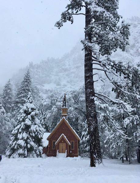 Snowed in chapel