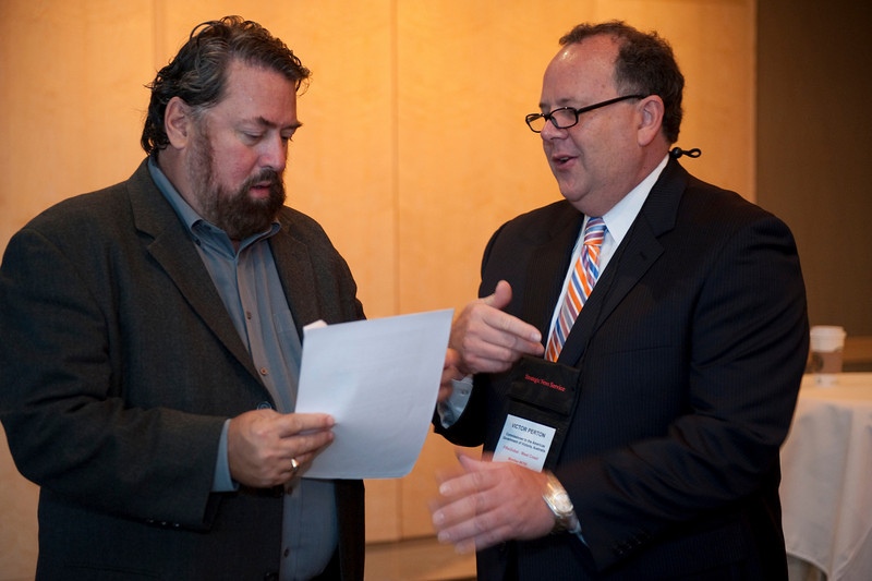 SNS CEO Mark Anderson (L) and Victor Perton, Commissioner to the Americas, Government of Victoria, Australia