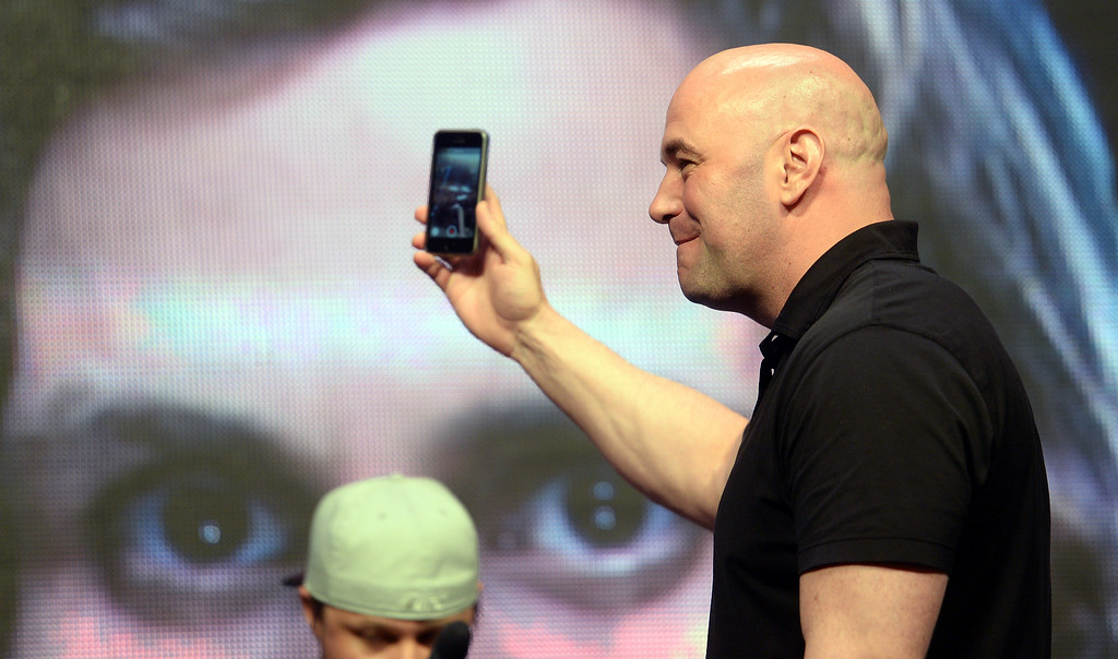 . UFC president Dana White during weigh ins for UFC 175 at the Mandalay Bay Events Center July 4, 2014. (Photo by Hans Gutknecht/Los Angeles Daily News)