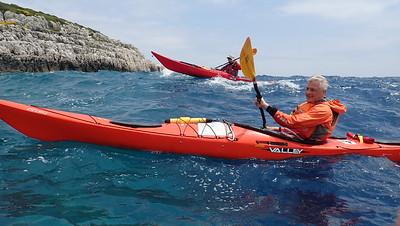 May 2019, BC Sea Kayak skills development week at Paxos