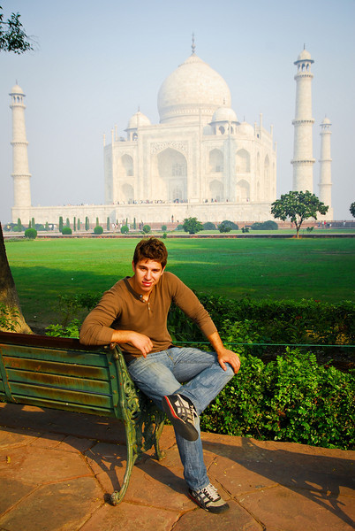 I got everyone else to leave and it was just me and the Taj