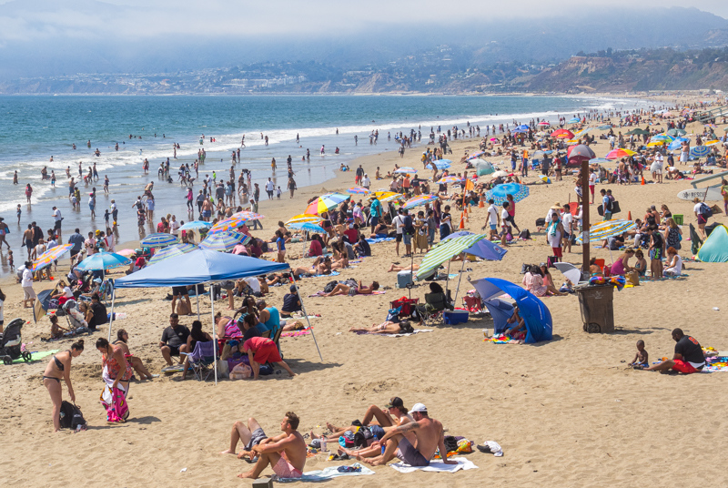 August 13 - Just another quiet day at the beach, Santa Monica, CA.jpg