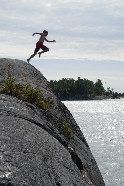 Kids favourite jumping rock - as you will see great fun