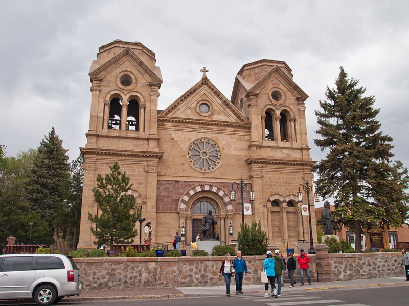 This is the Saint Francis Cathedral in downtown Santa Fe.  I only took a couple of photos in Santa Fe.  We spent the afternoon walking around the shops in the old plaza (a mix of very overpriced stores and tourist shops) and then drove back to Taos