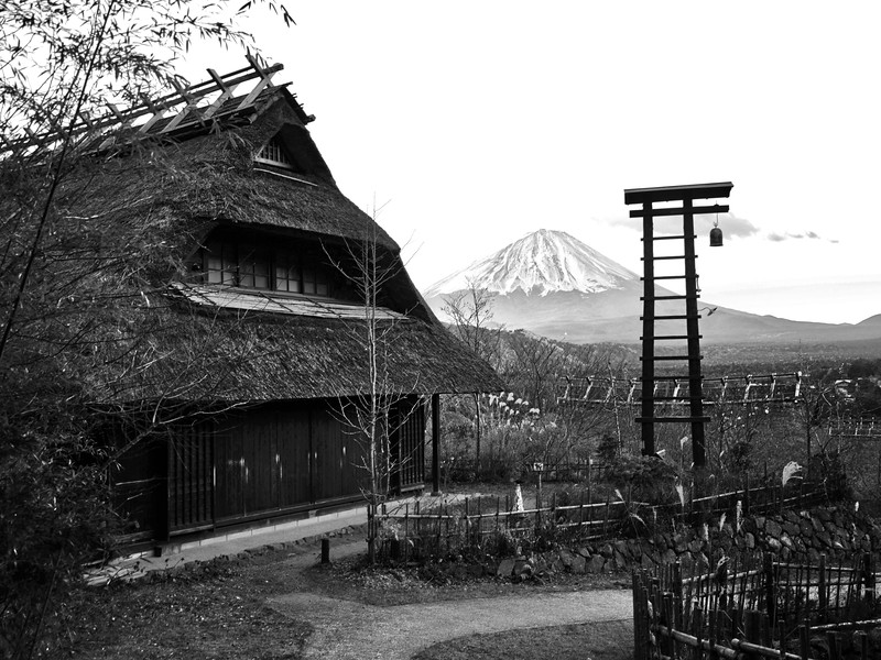 A Little Village near Mount Fuji
