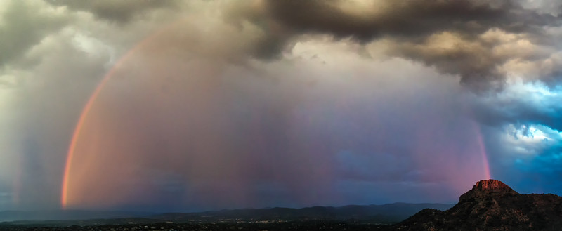 Arc of a Rainbow over Thumb butte