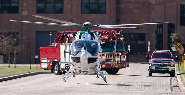 McKeeesport's Ladder 190 and AGH LifeFlight 5