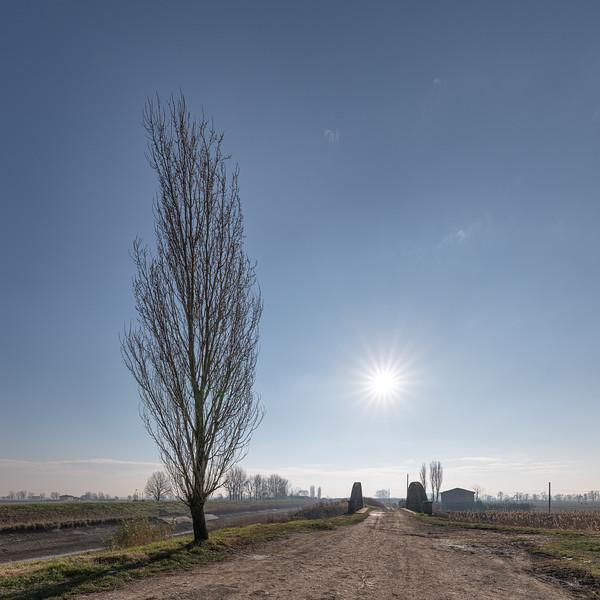 Collettore delle Acque Alte - Crevalcore, Bologna, Italy - January 10, 2020