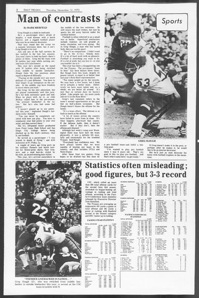 Daily Trojan, Vol. 62, No. 36, November 12, 1970