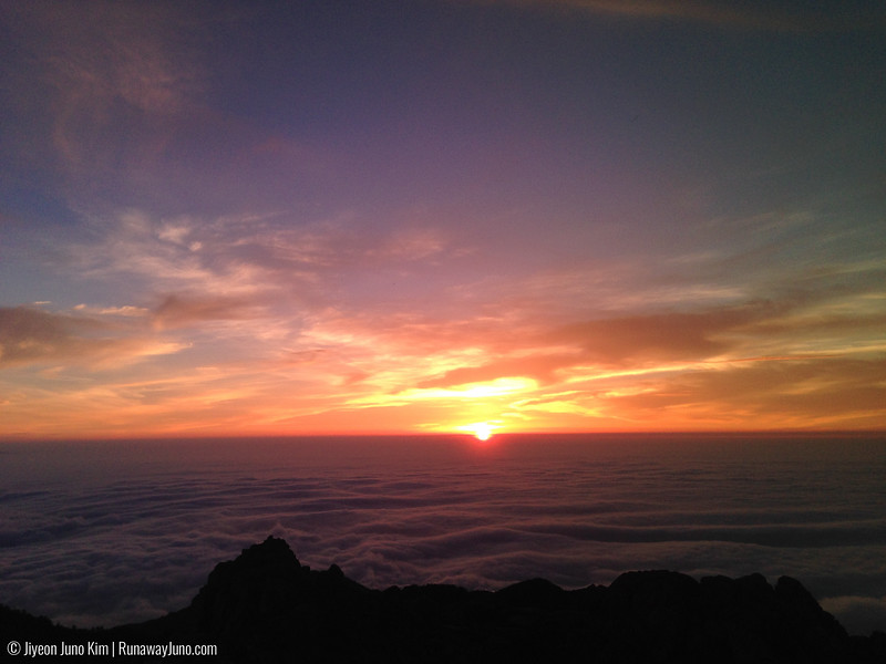 Sunrise from Cheonwangbong Peak
