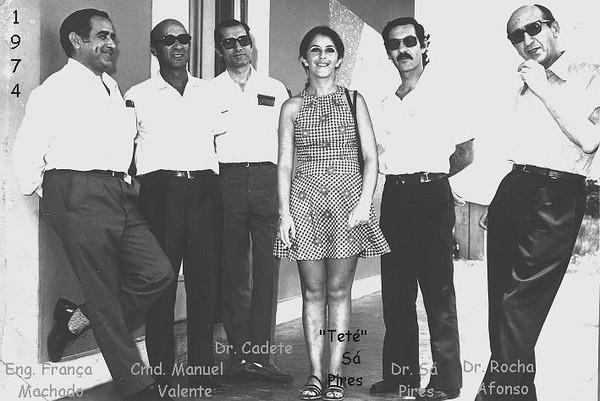 França Machado, Manuel Valente, Cadete, Tété Sá Pirers, Sá Pires e Rocha Afonso