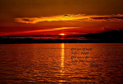 """""""Sunset"""" (digital photography on metal paper) by Robert Bolla"""