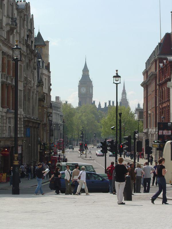 A shot of Big Ben from Trafalgar Square.