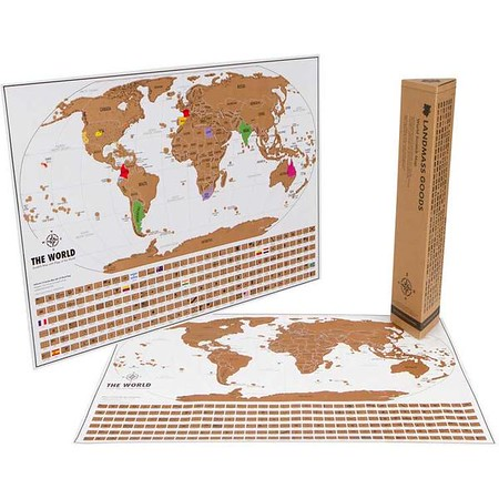 scratch off map gift
