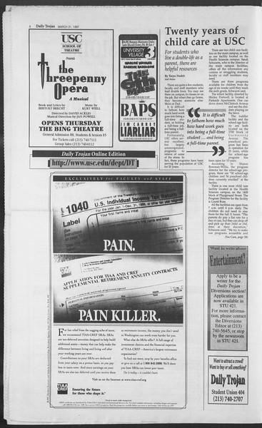 Daily Trojan, Vol. 130, No. 47, March 31, 1997