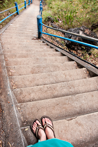 1,237 stairs. And lots of them quite steep!