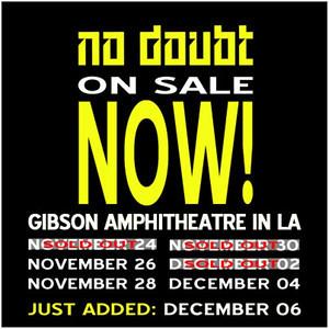 No Doubt - at Gibson Amphitheatre - Universal City, CA - November 24, 2012