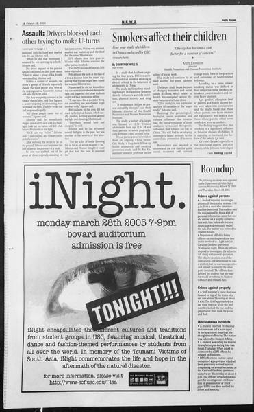 Daily Trojan, Vol. 154, No. 44, March 28, 2005