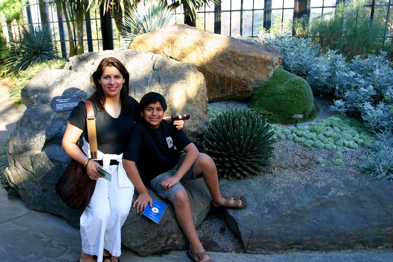 Saadia and Zeryab in the cactus garden.