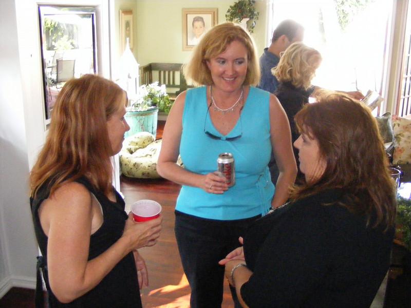 Debbie Subcasky Maxwell, Franci Vittrup Callahan, and Debbie's sister, Mary Subcasky