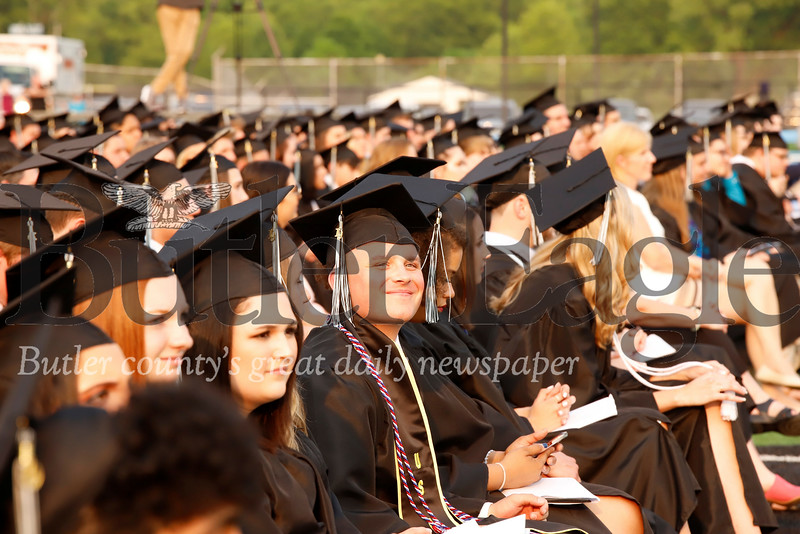 Seneca class of 2019 graduates sit waiting for their turn to walk. Seb Foltz/Butler Eagle