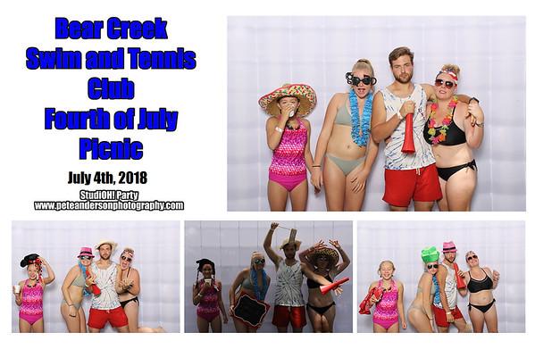 2018 Bear Creek Swim & Tennis Pool Party