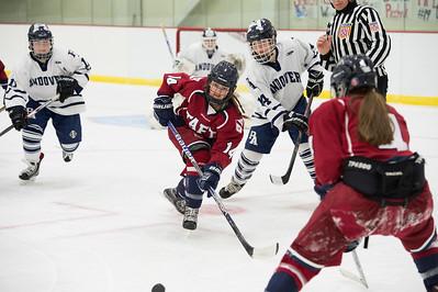 12/16/16: PKO Tournament, Girls' Varsity Hockey v Andover