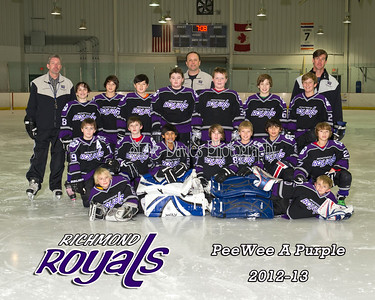 RRoyals PeeWee A Purple 01-21-13