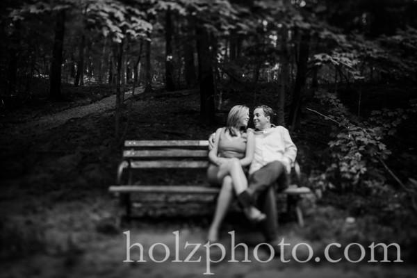 Megan & Ken B/W Engagement Photos