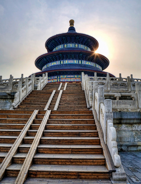 "Temple of Heaven at Sunset.      21"" x 16"""