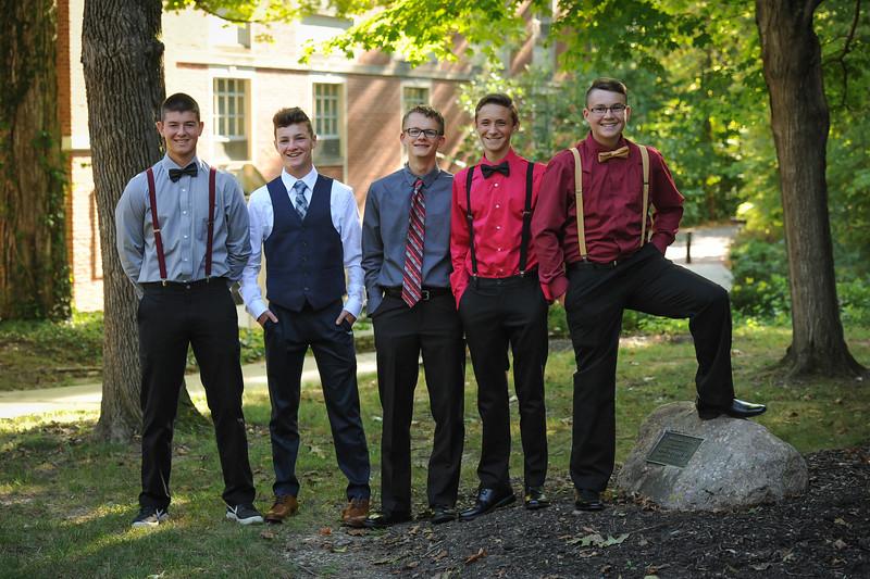 9-29-18 Bluffton HS HOCO - Nic Essinger, Josh, Mehaffie, Eli Lemley, Collin Olgsebee, Adam Fredritz -10th grade -1.jpg