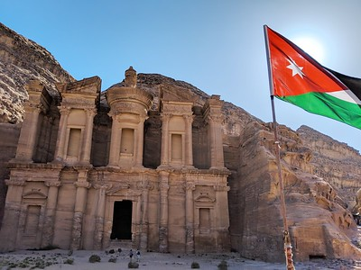 Day 4, Jordan - Hike in Petra to Monastery then drive to Aqaba
