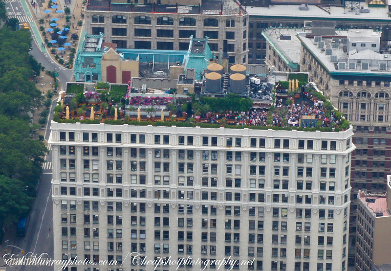 Roof top party: I spied this from the top of the ESB...looks like they were having a blast!
