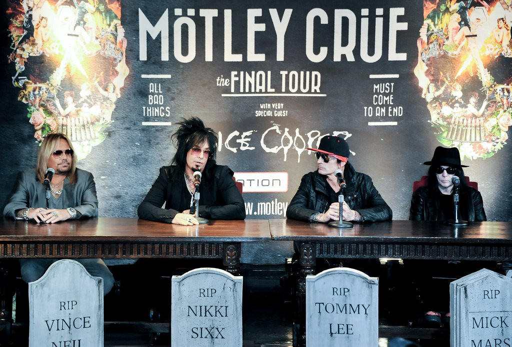 """. <p>6. MOTLEY CRUE <p>Unveils plans for their final retirement concert tour. Just like they did in 2005. (unranked) <p><b><a href=\'http://www.twincities.com/music/ci_25011268/motley-crue-farewell-tour-will-stop-st-paul\' target=\""""_blank\""""> HUH?</a></b> <p>    (Richard Shotwell/Invision/AP)"""