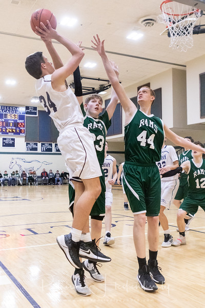 2020-02-25 Hillsdale Academy Boy's Basketball vs. North Adams - Senior Night