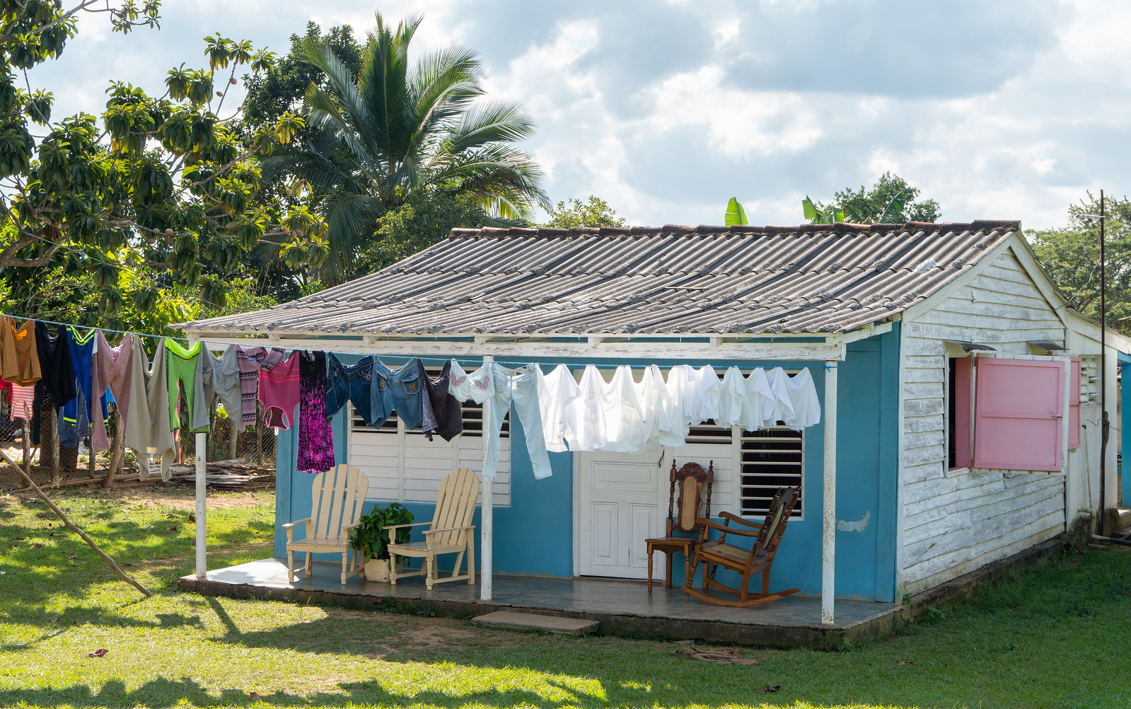 Rocking chairs and wash - Typical Cuba