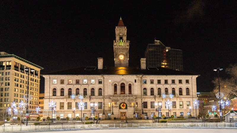Downtown Worcester at Night