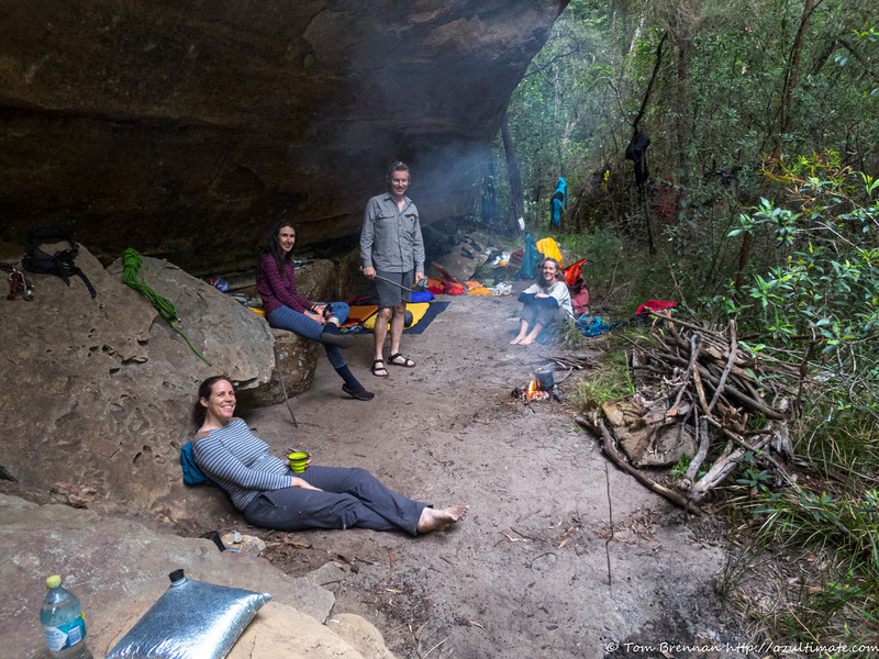 Enjoying our delightful camp cave