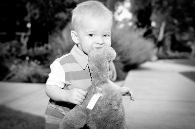 Sometimes I eat my teddy bear's feet...