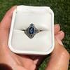 1.41ctw Art Deco Style Aqua and Diamond Dinner Ring 20