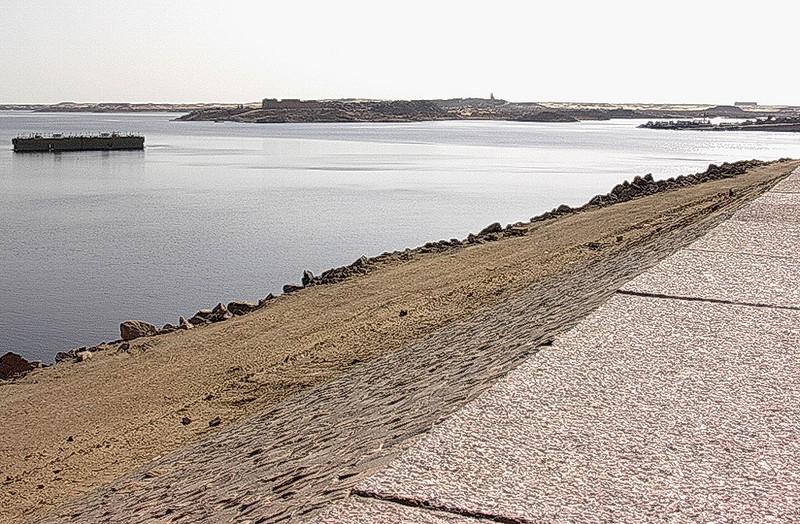 Sørvest fra Aswan High Dam (Foto: Ståle)