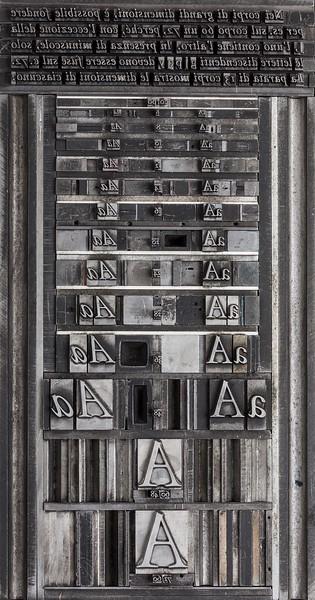 Pagina composta a mano in carattere Tallone
